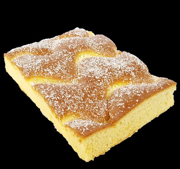queque de vainilla con crema pastelera
